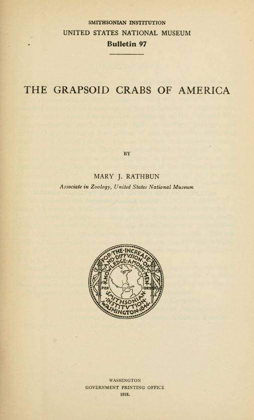 The Grapsoid Crabs of America