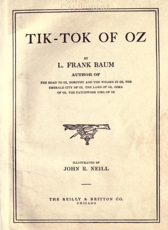 Download Tik-Tok of Oz by Lyman Frank, John Rea  in pdf