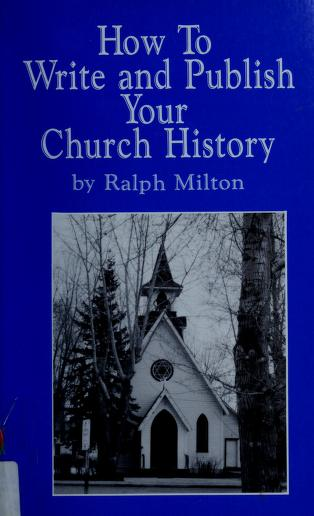 Cover of: How to Write and Publish Your Church History |
