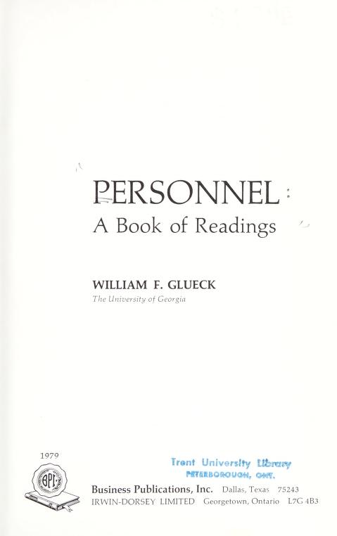 Personnel by William F. Glueck