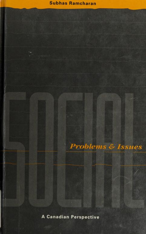 Social problems and issues by Subhas Ramcharan